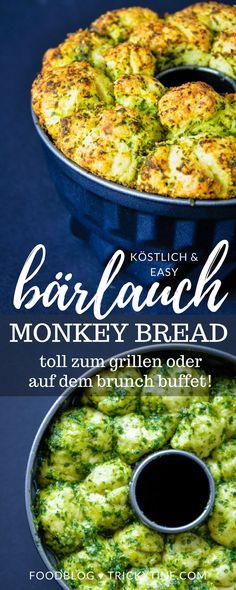 herzhaftes monkey bread mit bärlauchpesto - perfekt für das osterbrunch oder das erste angrillen ♥ trickytine.com  #trickytine #bread #bärlauch #ostern #baking #monkeybread