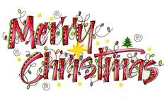 Happy Christmas Lettering