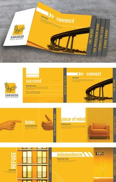 San Diego Youth Services by Rylinn Berger, via Behance. Very nice.