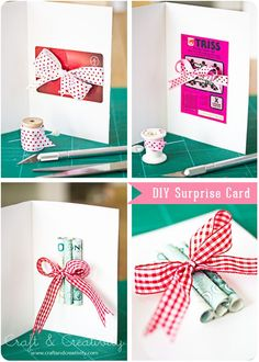 How to present a gift card, a scratch card or a money gift in a creative way.