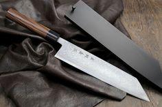 Yoshihiro Aoko (Blue Steel) Suminagashi Damascus Kiritsuke Japanese Multipurpose Chef Knife 8.25 Inch(210mm) with Nuri Saya Cover