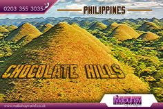 Chocolate Hills, Philippines:   The #Chocolate #Hills or #Tsokolateng #burol in #filipino are a #geological formation in #Bohol #Province, #Philippines.   Source:   https://en.wikipedia.org/wiki/Chocolate_Hills   #ChocolateHills #Travel #Flights #CheapFlights #MabuhayTravel #FlightstoPhilippines   Get your Best Flight deals from the Experts:   http://www.mabuhaytravel.co.uk/