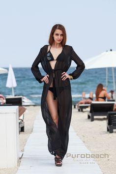black cardigan beachwear beach clothing by blush&mai