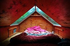 An adult hideout. love the skylights...