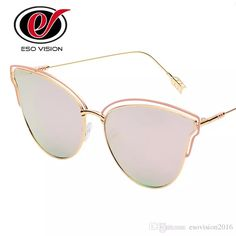 3a3b904d17 Slim Cat Eye Sunglasses For Woman Women S Fashion Mirror Sunglasses For  Sale Brand Designer Pink Beach Sunglasses New Round Unbroken China Mirrored  ...