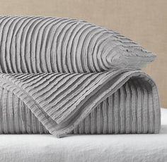 Garment-Dyed Pleat Coverlet & Sham