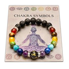 Wiccan Star Double Chakra Bracelet With Jewellery Pouch & Meaning Card. Healing for sale online Chakra Bracelet Meaning, Bracelet Chakra, Chakra Armband, Chakra Beads, Chakra Jewelry, Chakra Crystals, Chakra Stones, Yoga Bracelet, Crystal Healing Stones