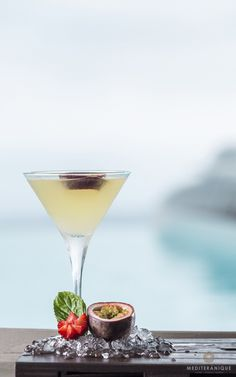 Delicious cocktails at Oia village, Santorini island, Greece. - selected by www.oiamansion.com