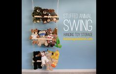 Stuffed aimal storage- swing for plush toys- Toy Storage Solutions: Our Favorite Ways to Put Playthings in Their Place - ParentMap