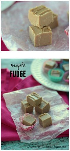 This easy Maple Fudge comes together in minutes and is perfect for your holiday treat tray!