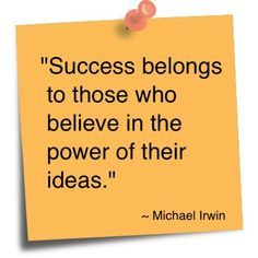 Do YOU believe?  #success #power #IDEATE