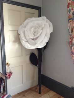 giant crepe paper rose by jacqui P