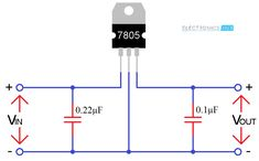 IC 7805 Voltage Regulator is a Linear Regulator IC which produces It is very flexible and is employed in many circuits like a voltage regulator. Read more about IC 7805 in this post. Electronics Components, Electronics Projects, Electrical Circuit Diagram, Electronic Parts, Space Planets, Audio Amplifier, Voltage Regulator, Flexibility, Bar Chart