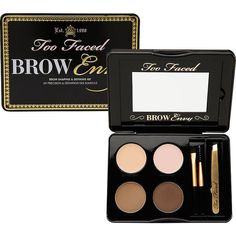 Too Faced Brow Envy - Brow Shaping & Defining Kit 1 ea ($39) ❤ liked on Polyvore featuring beauty products, makeup, makeup tools, tweezers & brow tools, beauty, slant tweezer, brow kit, eye brow kit, eyebrow kit and eyebrow wax kit