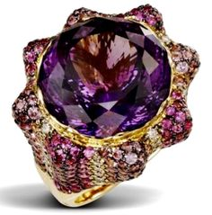 Rosamaria G Frangini | High Purple Jewellery | Violet Orchid Ring