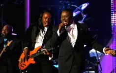 Phillip Bailey & Maurice White of Earth, Wind & Fire.