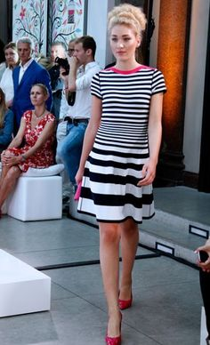 Marc Cain  #fashion #runway #stripes- Repetition