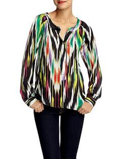 Deanna Disco Ikat Print Tunic  by Patterson J. Kincaid  $118.00
