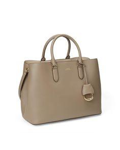 Ralph Lauren - Brown Leather Marcy Satchel - Lyst Lauren Brown, Fashion Bags, Brown Leather, Satchel, Ralph Lauren, Handbags, Chic, Stuff To Buy, Women
