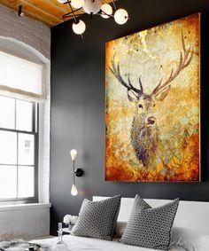 Burnt Orange Deer Hunter Gallery-Wrapped Canvas