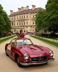 Mercedes-Benz 300SL Gullwing at The Breakers Mansion, Newport, RI.