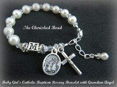 Baby Girl's Personalized Catholic Baptism by TheCherishedBead, $25.00