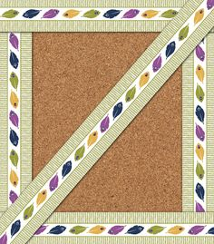 You-Nique Feather Stripe Straight Borders