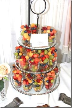 Fruit Cups - what a great way to serve at a party!