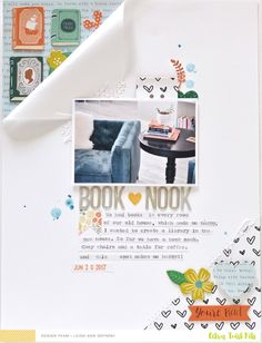 Book Nook Layout by scrappyleigh at Studio Calico