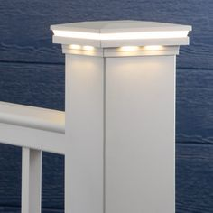 Complete and polish off your AFCO Pro railing with the stunning addition of the Ornamental Low Voltage LED Post Caps by LMT Mercer. The brilliant way to highlight the style of your home while adding illumination and safety for your family, friends, and guests and protect your posts and installation hardware by blocking out every day water, dirt, and debris. Composite Deck Railing, Metal Deck Railing, Deck Railing Systems, Outdoor Deck Lighting, Solar Deck Lights, Deck Posts, Deck Design, Lighting Ideas, Highlight