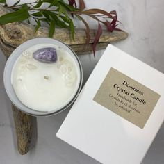 Clear Quartz Crystal, Crystal Healing, The Chai, Crystals Store, Beautiful Candles, Handmade Candles, Candle Jars, Latte, Stress