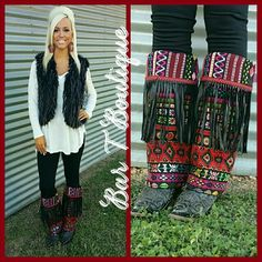 Fiesta Fringe Boot Rugs at Bar T Boutique. Follow @bar_t_boutique on Instagram to Shop New Arrivals weekly