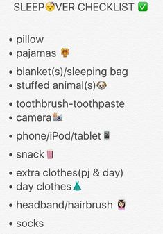 sleepover packing list Heres what being a VSCO lady truly means and a checklist to get you on your method to refining the trend. Birthday Sleepover Ideas, Sleepover Party Games, Teen Sleepover, Sleepover Activities, Birthday Party For Teens, Slumber Parties, Birthday Crafts, Things To Do At A Sleepover, Summer Fun List