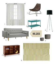 Just Starting Out: A Smart, Stylish $1200 Living Room