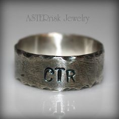 Ctr Ring, Hammered Brushed And Oxidized