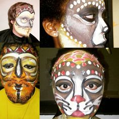 Some Theater Production make-up I've been busy with.