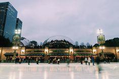 Holiday scenes across the street at Millennium Park ⛸  📷: @adi.sonne21