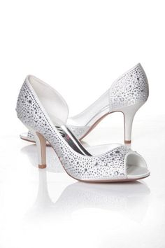 #AnellaWeddingShoes Karen style with #bling www.weddingshoes.co.za Available from September 2014 Can be dyed to any colour!