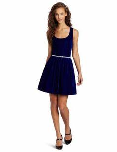 Teeze Me Juniors Velvet Party Tank Dress