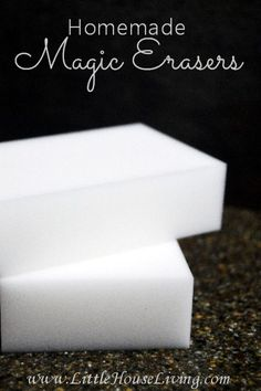 Magic Erasers and Special Cleaning Formula How to make your own versions of Magic Erasers! Save money on cleaning supplies by making your own!How to make your own versions of Magic Erasers! Save money on cleaning supplies by making your own! Homemade Cleaning Supplies, Cleaning Recipes, Cleaning Hacks, Cleaning Routines, Cleaners Homemade, Diy Cleaners, Household Cleaners, Kitchen Cleaners, Bathroom Cleaners