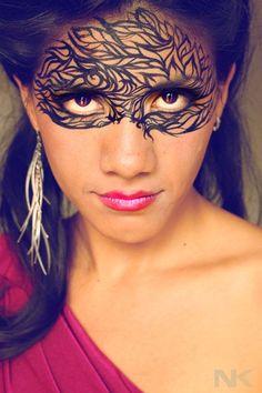 "Makeup ""Mask"" by Natasha Kudashkina (from Siberia, in Canada)"