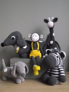 Crocheted animals. via Double Crochets, blog of two sisters from Athens, Greece