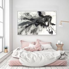 Examples of Bedroom Decoration to Inspire for bedroom decorating ideas; bedroom decoration for first night; Bedroom Inspo, Home Bedroom, Bedroom Decor, Bedrooms, Bedroom Ideas, Arty Bedroom, Night Bedroom, Master Bedroom, Bedroom Artwork
