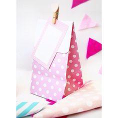 Sacolas de lembrancinha poá Rosa - R$2,49  #festa #lembrancinha #rosa