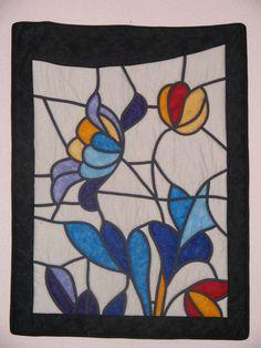 Bartzelonan Gloria Llopart-ekin ikasitako teknika: 'vidriera'. 2003.