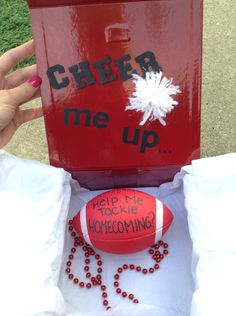 See. This would be cute for a football player to ask a cheerleader to HC