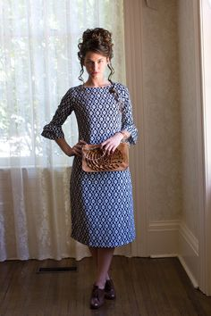 Dainty Jewell's modest damask layering dress. Modest fashion, bridesmaid styles, ruffles, and lace: www.daintyjewells.com.