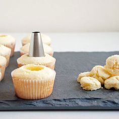 How to Fill Cupcakes - Cupcake Filling Tips - Delish.com  So excited to try this!!!!