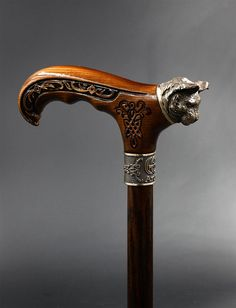 How tо Make а Wooden Walking Stick Hand Carved Walking Sticks, Wooden Walking Sticks, Walking Sticks And Canes, Walking Canes, Cannes, Custom Canes, Just Keep Walking, Cane Handles, Wooden Canes