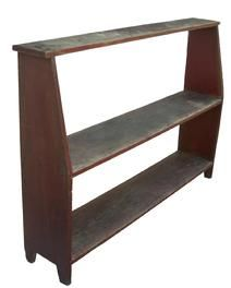 Bucket Bench with original red paint circa 1800